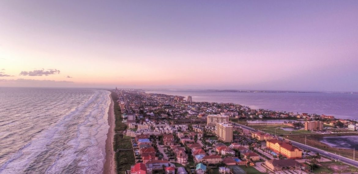 Aerial View of South Padre Island - Wedding By Wendi
